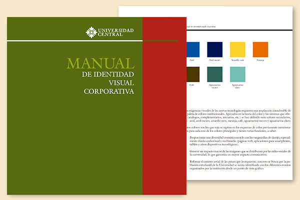 manual de identidad visual paleta colores