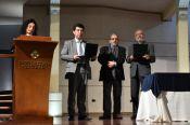 Entrega de reconocimientos a los maestros Jorge Plata e Isa&iacuteas Pe�a