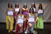 El Taller de Danza Árabe UC con el certificado de participación del Festival