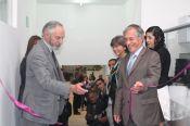 Dr. Nelson Gnecco y Dr. Fernando Mej�a Uma�a dan la apertura al nuevo Laboratorio de Desarrollo Tecnol&oacutegico.