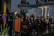 El presidente se dirigió a los asistentes con un discruso lleno de agradecimiento y de esperanza por el destino de los di&aacutelogos